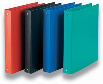 Fascikla PVC, sa 4 prstena, A4, plava