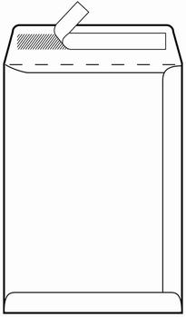 Kuverta vrećica, 229x234mm, bijela
