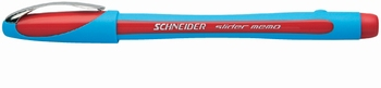Kemijska olovka, Schneider, Slider memo, crvena