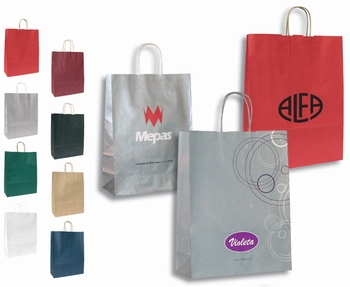 Vrećica papirna, eco, dimenzije: 32x23x10cm