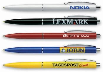 Kemijska olovka,  K-15, crna, boja ispisa: plava  KOMAD