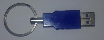Privjesak za ključeve usb plavi