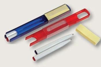 Set 2 kemijske olovke i memo papirići crveni