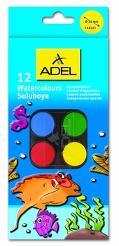 Bojice vodene, 12 boja, Adel