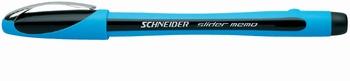 Kemijska olovka,  Schneider, Slider memo, crna