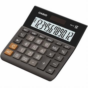 Stolni kalkulator CASIO, DH-12-BK-S-EP