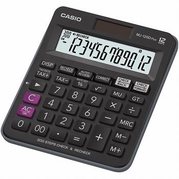 Stolni kalkulator CASIO, MJ-120DPLUS-W-EP