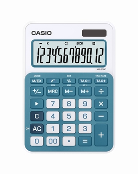 Stolni kalkulator CASIO, MS-20NC-BU-S-EC plavi
