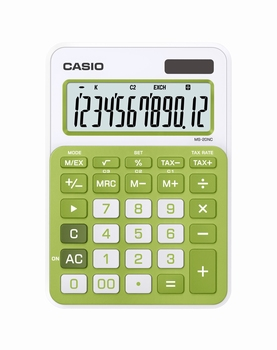 Stolni kalkulator CASIO, MS-20NC-BU-S-EC zeleni
