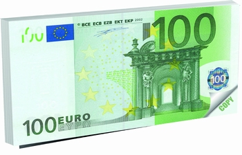 BLOK ZA BILJEŠKE 14X8 MONEY NOTES 100 EUR  KOM