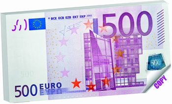 BLOK ZA BILJEŠKE 16,4X8,2 MONEY NOTES 500 EUR  KOM