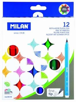 Flomasteri,  12 boja, Milan