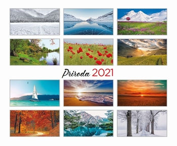 KALENDAR STOLNI PRIRODA 13 LISTA 2021  KOMAD