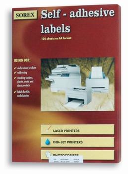 Etikete kompjuterske, A4,  210x297mm