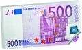 BLOK ZA BILJEŠKE 16,4X8,2 MONEY NOTES 500 EUR  KOMAD
