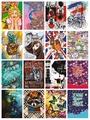 Bilježnice Lama lux, Hologram laminacija, A5/karo/100 lista  KOMAD